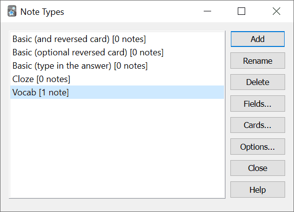 anki note types
